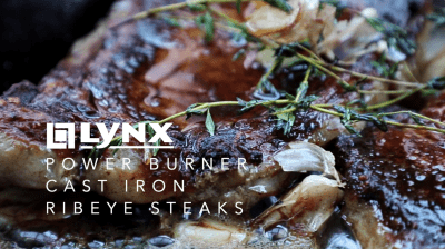 Power Burner Cast Iron Ribeye Steaks